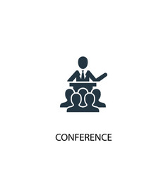 Conference icon simple element vector
