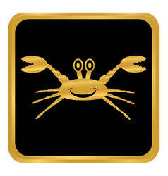 crab button on white vector image