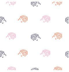 Cute bahedgehogs seamless pattern vector