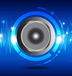 digital sound wave from speaker vector image