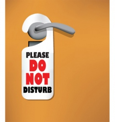 do not disturb sign vector image