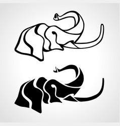 Elephant head abstract zoo logo vector