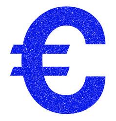 Euro symbol grunge icon vector