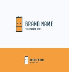 Face rectangle logo vector image