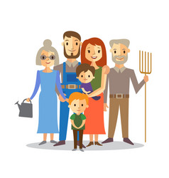 farmers family vector image