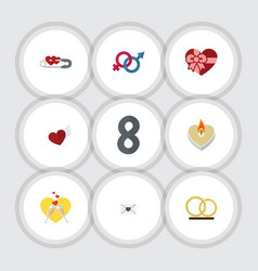 Flat icon love set of letter sexuality symbol vector