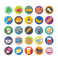 Food flat icons 2 vector