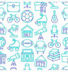 garage sale seamless pattern vector image