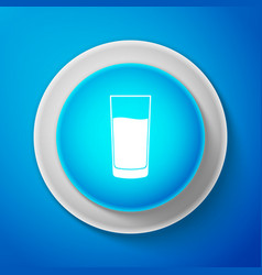 glass with water icon isolated soda glass vector image