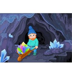 Gnome with Quartz Crystals vector