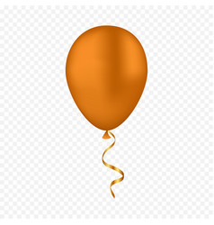 Gold balloon on a transparent background vector