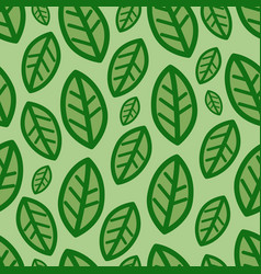 green leaves at green background pattern vector image