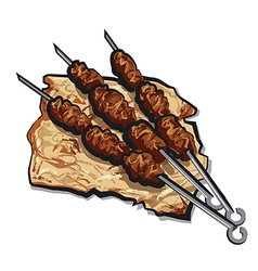 Grilled kebab vector
