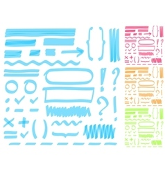 Hand drawing highlighter elements for select vector