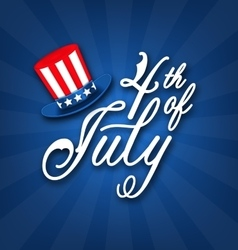 happy 4th of july card traditional american vector image