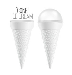 ice cream cone for ice cream sour cream vector image