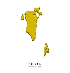 isometric map bahrain detailed vector image
