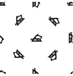 Jack plane pattern seamless black vector