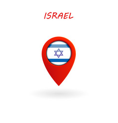 location icon for israel flag eps file vector image