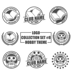 Logo collection set with hobby theme vector