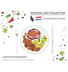 Luxembourg cuisine european national dish vector