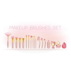 Makeup-brushes vector