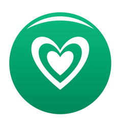 Masculine heart icon green vector