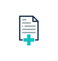 medical document logo icon design vector image
