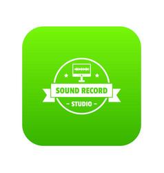 modern sound studio icon green vector image