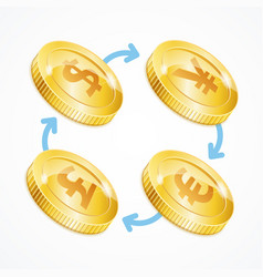 money currency exchange concept vector image