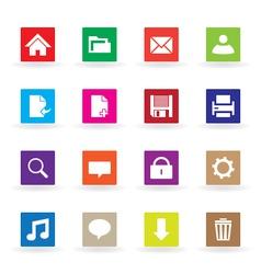 Multicolor web icons vector