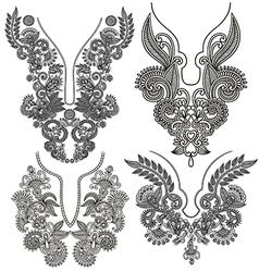 Neckline embroidery fashion vector