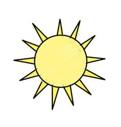 Nice light sun image vector
