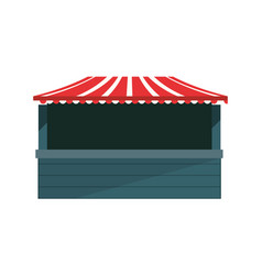 park booth carnival festival vector image