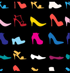 pattern womens shoes vector image