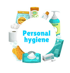 Personal hygiene and care banner vector