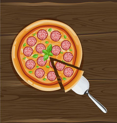 pizza on board vector image