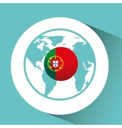 Portugal flag pin map design vector
