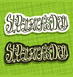 Poster for saint patricks day vector
