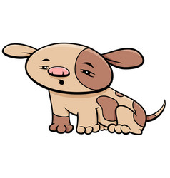 puppy dog character cartoon vector image