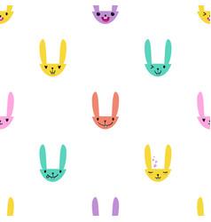 Rabbit emoticons pattern-07 vector
