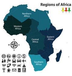 Regions africa vector