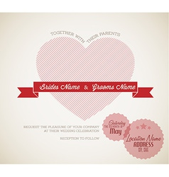 Retro Wedding invitation vector image vector image
