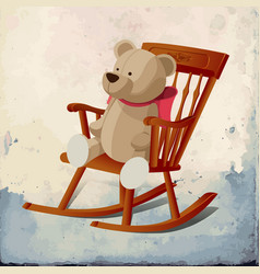 Rocking chair 01 vector