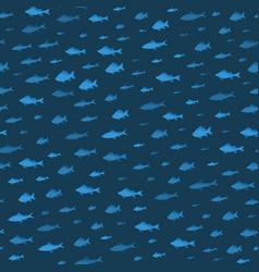 School of fish sea seamless pattern background vector