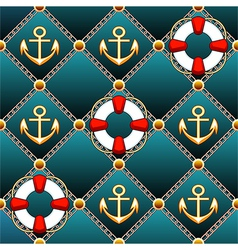 Seamless lifebuoy pattern vector image