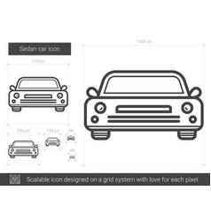 Sedan car line icon vector