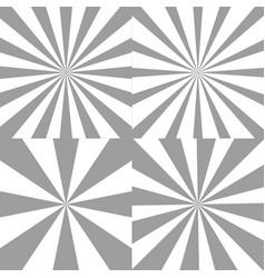 set sunburst backgrounds radial rays of vector image