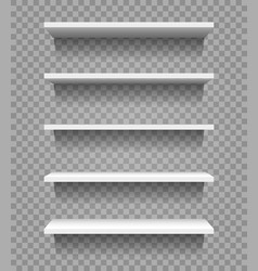 shop product blank shelves isolated on vector image
