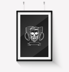 sketch angry skull american football player vector image